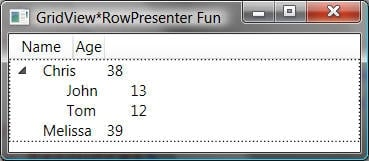 Fun With GridView*RowPresenter - Marquee de Sells: Chris's